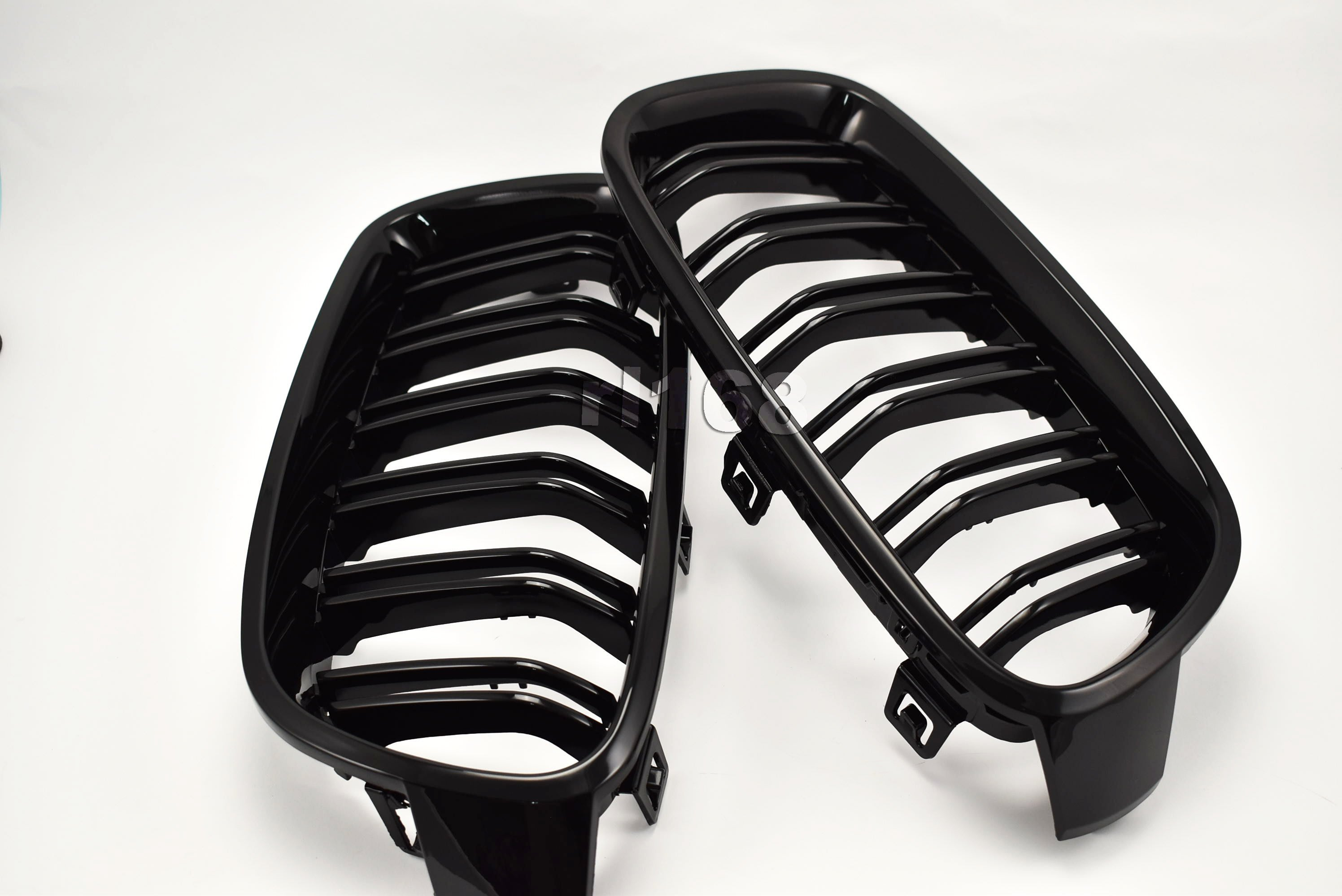 GRILLES for F30 (M3 LOOK 11~)  STYLE SHINY BLACK 水箱罩 全亮黑烤漆