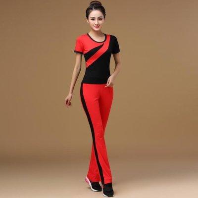洛神春夏廣場舞服裝新款套裝女大碼短袖中老年運動成人演出舞蹈服
