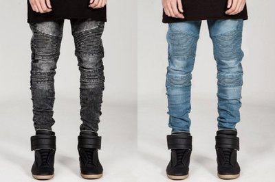 ►FINAL SALE 最後出清◄ 水洗騎士牛仔褲 Biker Jeans (非 balmain represent