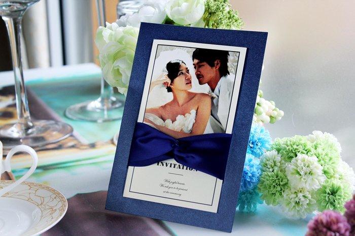 『潘朵菈精緻婚卡』影像設計喜帖 ♥ 緞帶20元喜帖系列 ♥ 喜帖編號:W-80113
