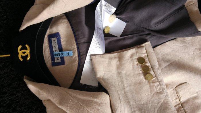 KOOKAI 100% linen 純天然麻料駝色西裝上衣