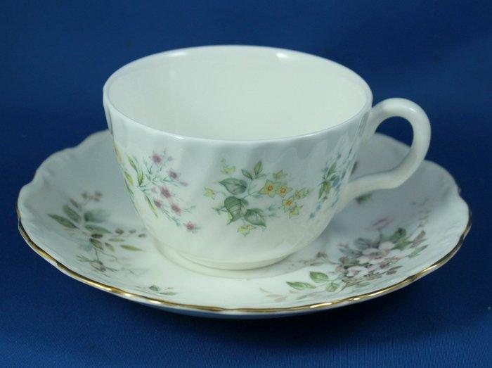 [美]英國百年名瓷MINTON骨瓷茶杯/咖啡杯二用杯盤組SPRING VALLEY+HAWORTH