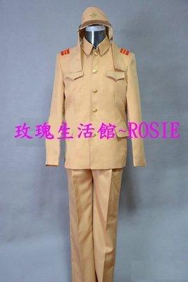 【玫瑰生活館】~日本兵,軍裝,日本軍服:均碼(腰圍為鬆緊帶),表演服