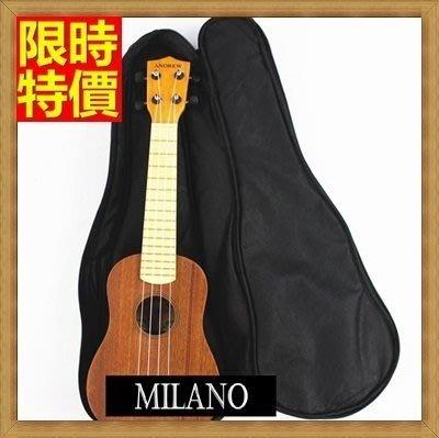 烏克麗麗包 ukulele 琴包配件-21/23/26吋純黑百搭帆布手提背包保護袋琴袋琴套69y3[米蘭精品]