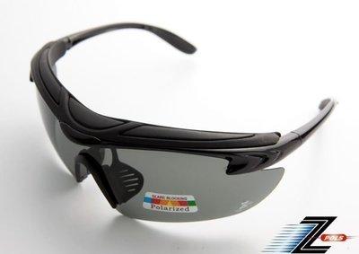 【Z-POLS悍將帥氣功能款】烤漆質感黑 舒適頭墊 寶麗來偏光UV運動眼鏡!