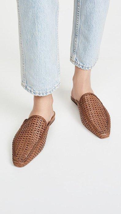 正品代購 Sam Edelman Elva 氣質 牛革 穆勒鞋 棕