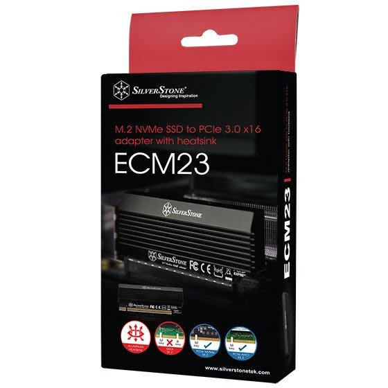 小白的生活工場*銀欣 擴充卡 ECM23/支援一組M.2 SSD (M key) 於PCIe x4 介面