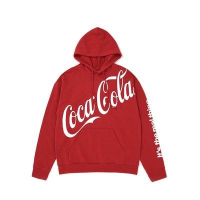 Cover Taiwan 官方直營 可口可樂 Coca Cola 復古 帽Tee 帽T 大尺碼 嘻哈 紅色 (預購)