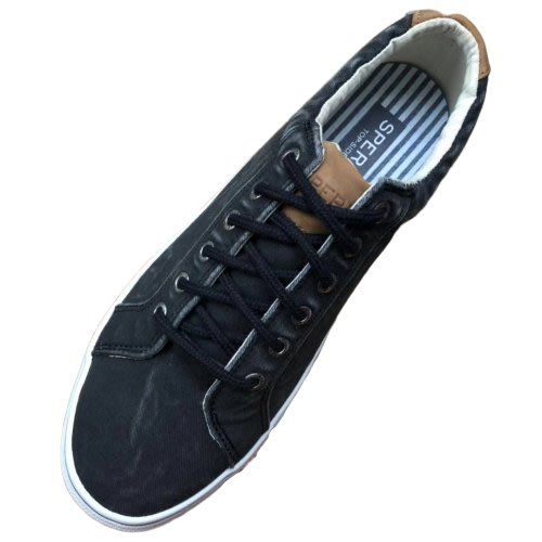 陽光角落 ~31cm  us13 水洗帆布 黑色  休閒鞋 sperry