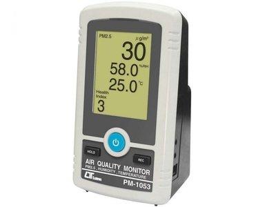 TECPEL 泰菱 》路昌 PM-1053 PM2.5空氣品質監測計 細懸浮微粒 溫度 濕度 可更換濾網 健康指標