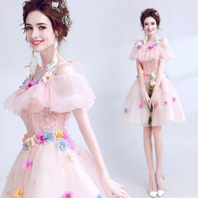 小禮服 - 粉系列露肩小公主禮服款  #ZH1028189