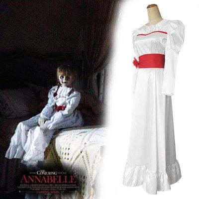 安娜貝爾睡衣cosplay招魂娃娃萬圣節 派對化妝舞會恐怖服裝連衣裙