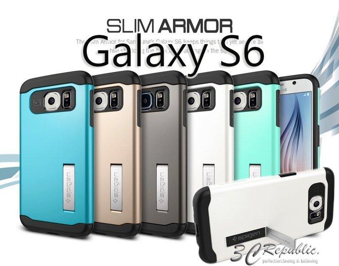 出清 SGP 三星 Galaxy S6 edge Case Slim Armor 雙層 吸震 站立 保護殼