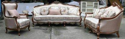古典實木雕刻沙發組