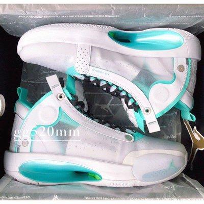 """全新正品Air Jordan 34 """"Snow Leopard"""" 女款 薄荷綠 郭艾倫 BQ3384-103休閒運動慢跑潮鞋"""