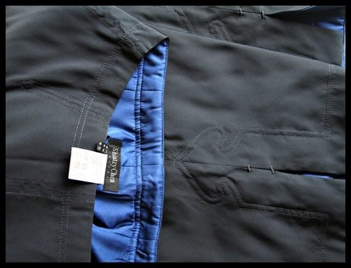 【 Shiatzy Chen】夏姿深藍全絲鋪棉內裡愛心車縫線及膝裙(原價$38800)