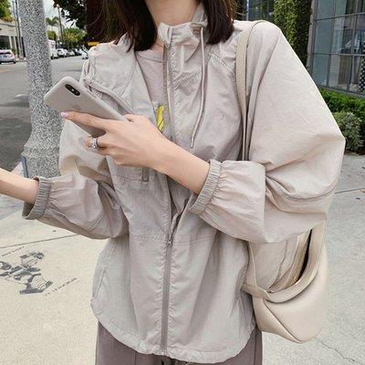 防曬抗UV空調衣薄外套  薄款寬鬆蝙蝠袖防曬開衫立領小外套  艾爾莎【TAE8457】