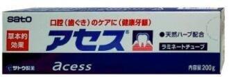 *美麗研究院*Sato 佐藤 雅雪舒 Acess 牙膏 200g /大 (原味)