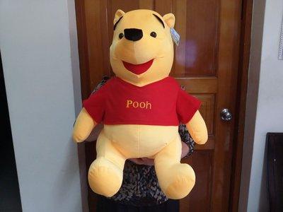 出清大特價~正版/高55公分/迪士尼/大型小熊維尼坐姿玩偶/維尼抱偶/娃娃