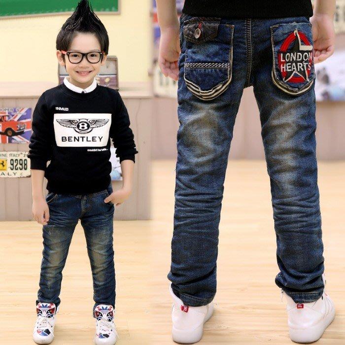 韓版《五星口袋款》加絨 帥氣牛仔長褲 (K5-6)