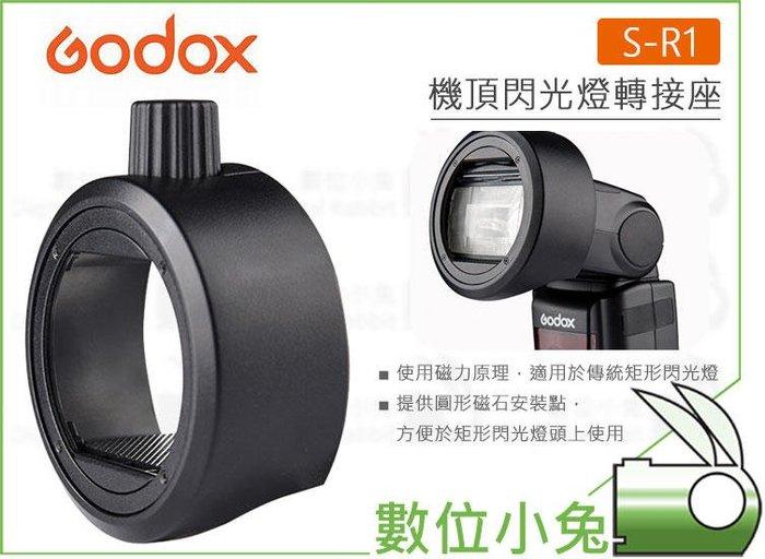 數位小兔【Godox 神牛 S-R1 閃光燈轉接座 圓頭閃光】TT685 V860II TT600 可擴充 AK-R1