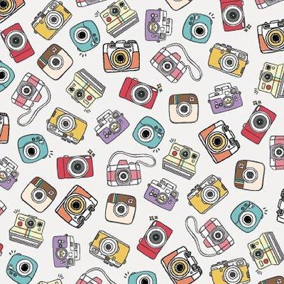 Luckshop C4257~花紋紙~相機 A4 180P 1包25張 單面 當背景、打孔