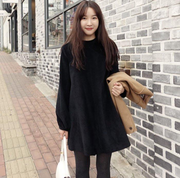 ☆HEYKOREA23☆100%韓國正韓空運 可愛氣質燈心絨傘狀洋裝連身裙【N11140612】