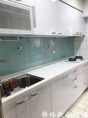 【雅格廚櫃】工廠直營~一字型廚櫃、流理台、三星石、廚具、結晶鋼烤、櫻花三機