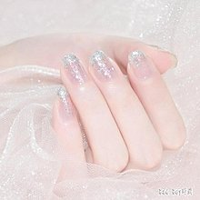 【Miosio】 亮片指甲油大亮片璀璨閃銀透明色金屬銀漆光閃光金屬色亮銀指甲油 QG14621MN-322122