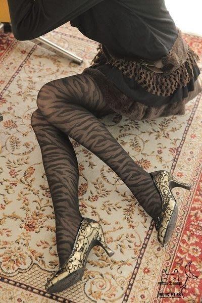 【拓拔月坊】日本知名品牌 M&M Frifla 斑馬紋 褲襪 日本製~現貨!