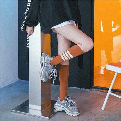 襪子 夏天長襪子女韓國夏季薄款小腿襪日系學院風及膝半截高筒襪運動潮