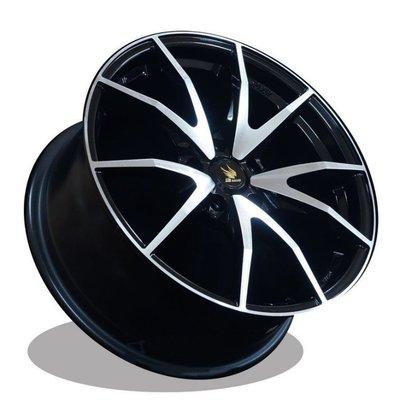 利文輪業 18吋鋁圈 羽式鋁圈 SPIDER 5/114.3 黑底車面