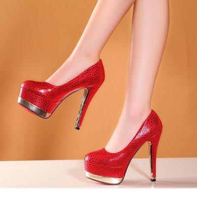 【明良精品】TBO-T-8015 優質皮革/牛皮內裡/跟高13.5cm高跟鞋【鞋碼40~43碼=1065元】