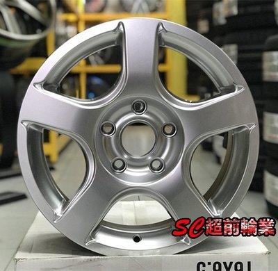 【超前輪業】編號(394) SH16 16吋鋁圈 5孔120 5孔160 6.5J T5 T6 載重框 強度夠 高亮銀