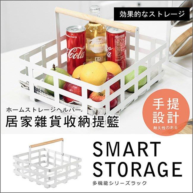 【居家大師】日式雜貨手提置物鐵籃2入組 野餐籃 碗盤架 水果籃 手提籃 收納籃 置物籃 收納架 ST035