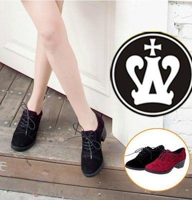 =WHITY=韓國GRAMMI品牌 韓國製  真皮 舒適中跟牛津鞋 四季經典百搭 自留S4BX932