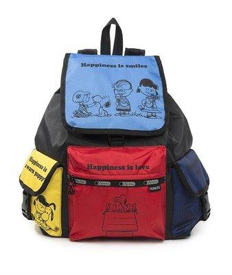 預購 美國 Lesportsac 各品項代購中 Snoopy Fun 史努比家族 聯名限量款 雙肩大款後背包