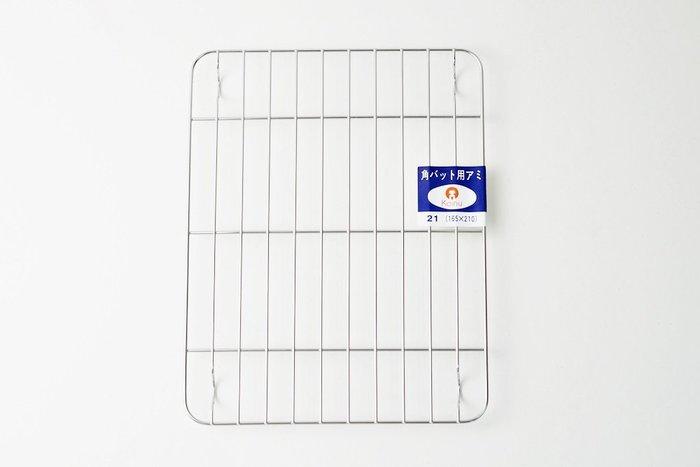 [偶拾小巷] 日本製 仔犬印不鏽鋼濾網21枚取(一般目)21x16.5x1cm