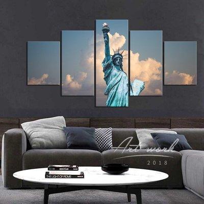 實木框畫 美國自由女神像 Statue of Liberty 自由照耀世界 臥室客廳裝飾畫 沙發背景墻掛畫 百嘉一品