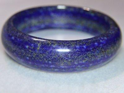 《青金石專區》《手鐲》天然青金石Lapis lazuli 寬版手鐲 #19.2圍