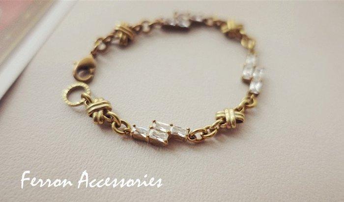 Ferron Accessories  E21 流逝時光系列手鍊   訂製 Handmade 復古 歐美 黃銅