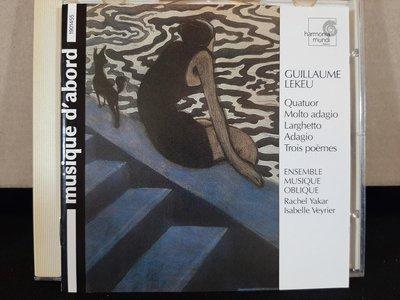 Ensemble Musique Oblique,Lekeu,Quatuor Molto Adagio,Troi Poemes雷庫-甚緩四重奏,甚緩版,三重詩歌