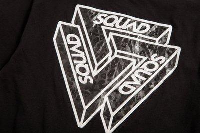 (MARVELOUS)SQUAD 2017 S/S 立體三角 Logo T-Shirt 豹紋 黑色