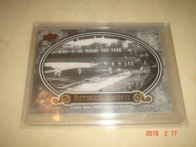美國職棒 Cubs Win 1908 World Series 09 UD A Piece of History 球員卡