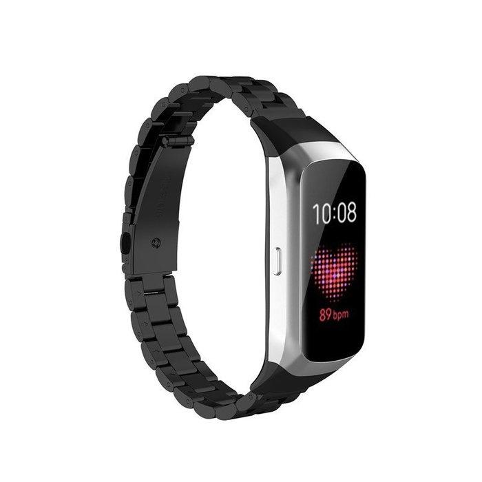 現貨  三星  galaxy  fit  SM-R370  手錶帶  金屬不鏽鋼三珠  商務型  男女經典替換腕帶