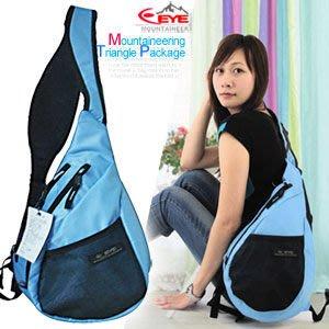 【推薦+】Mountaineer 安全反光可愛三角包P043-EYE308斜背包.側背包.後背包包.流行包