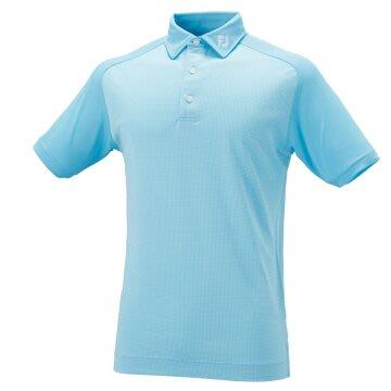 (易達高爾夫) 全新原廠FOOTJOY 20724 藍色細格 男短袖上衣
