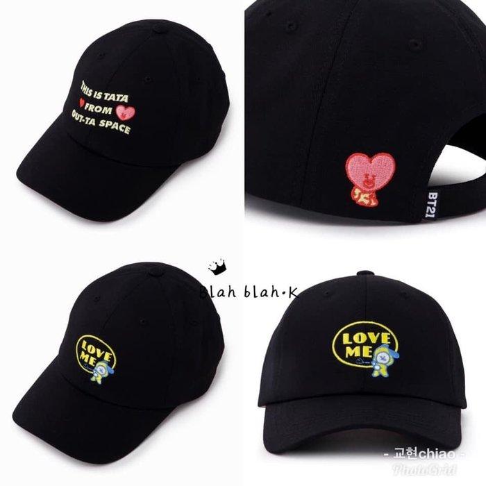 BT21 新款 棒球帽 老帽 刺繡棒球帽 刻字刺繡球帽 帽子官方正品代購