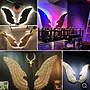 窩美復古鐵藝翅膀墻掛壁飾酒吧立體墻面裝飾...