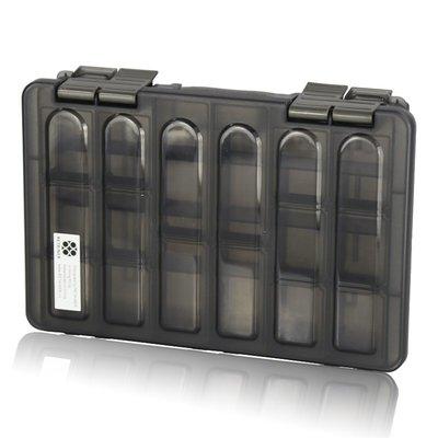 聚吉小屋 #熱賣#瑞美拓RETAINER出口兩層黑色透明收納盒 分類盒零件盒 漁具盒(價格不同 請諮詢後再下標)